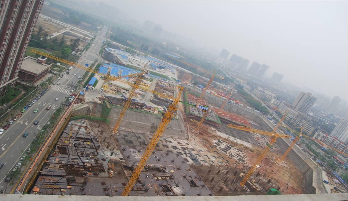 其他区地基基础及主体结构施工进行中