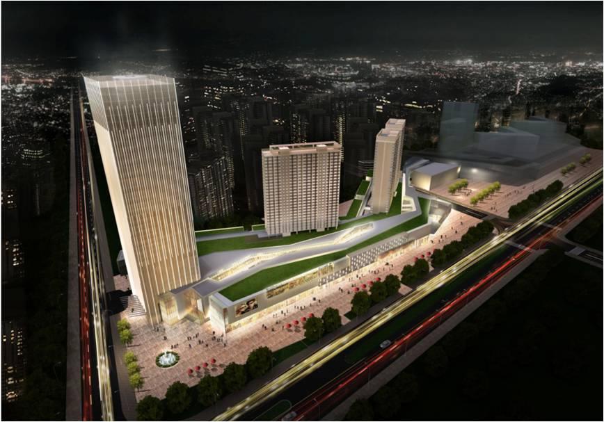西安万象城工程总建筑面积约42万平方米